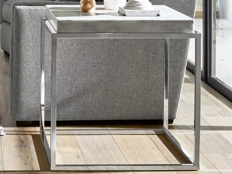 Universal Furniture Modern Stainless Steel 24'' Wide Rectangular End Table