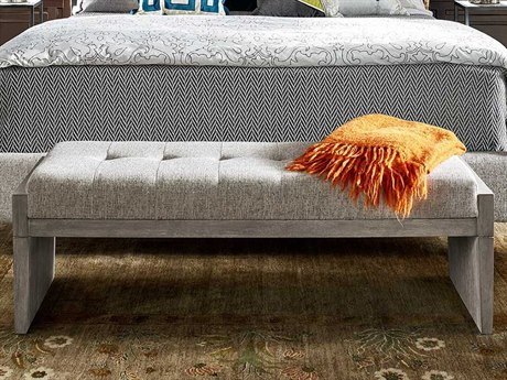 Universal Furniture Midtown Flannel / Coconut Metal Accent Bench