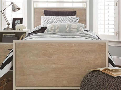 Universal Furniture Myroom Gray / Parchment Twin Panel Bed