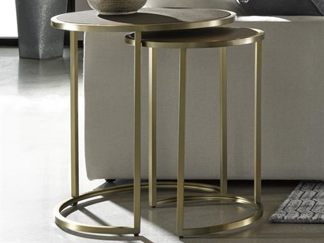 Universal Furniture Modern Portobello / Bronze 24'' Wide Round Nesting Table UF647815