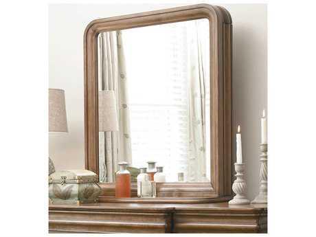 Universal Furniture New Lou 36''W X 38''H Rectangular Cognac Dresser Mirror with Storage UF07106M