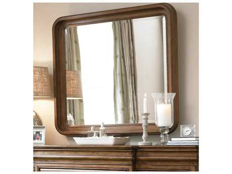 Universal Furniture New Lou 42''W x 38''H Rectangular Cognac Wall Mirror UF07104M