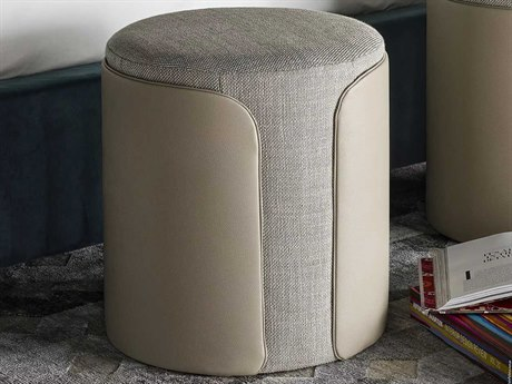 Universal Furniture Nina Magon Blitz Quarry / Royalton Eggshell Accent Stool