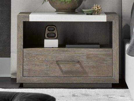 Universal Furniture Modern Charcoal / Bronze 1 Drawer Nightstand