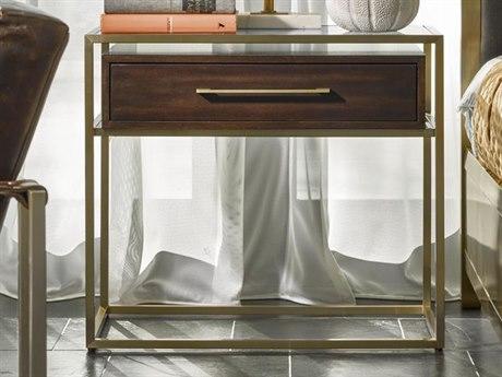 Universal Furniture Modern Mahogany / Brushed Brass 1 Drawer Nightstand
