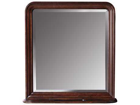 Universal Furniture Reprise 36''L x 38''H Rectangular Rustic Cherry Vertical Storage Dresser Mirror UF58106M