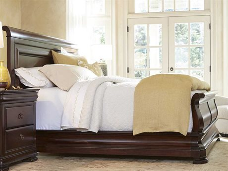 Universal Furniture Reprise Rustic Cherry Queen Size Sleigh Bed UF58175B