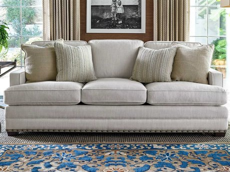 Caracole Compositions Adela Oyster Blush Taupe Sofa