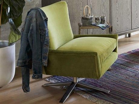 Universal Furniture Everette Sapphire Velvet Spring Accent Chair