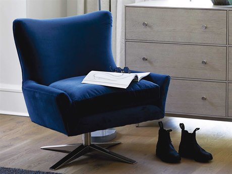 Universal Furniture Everette Sapphire Velvet Midnight Blue Accent Chair
