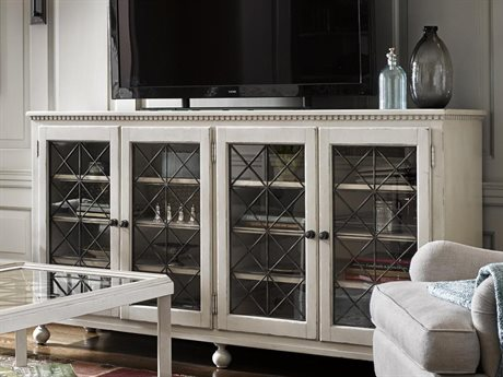 Universal Furniture Sojourn Summer White 80''L x 18''W Rectangular Entertainment Console UF543A966