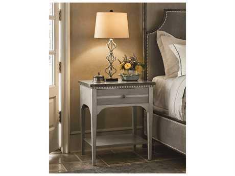 Universal Furniture Sojourn Grey Lake 1 Drawer Nightstand