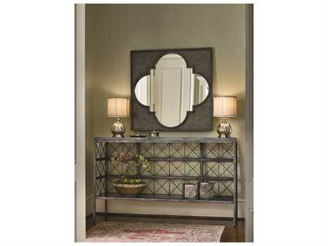 Universal Furniture Sojourn Metal Console Table with Wall Mirror Set UF543B803SET