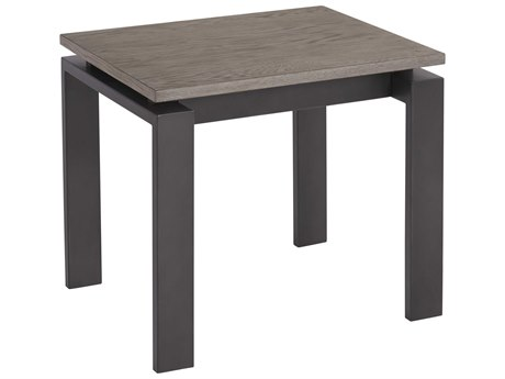 Universal Furniture Spaces Vance Brushed Oak 24'' x 24'' End Table with Brushed Oak Top