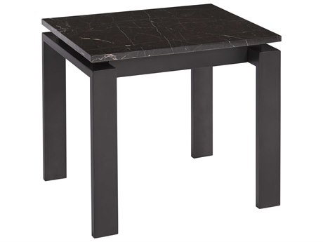 Universal Furniture Spaces Vance Black Marble 24'' x 24'' End Table