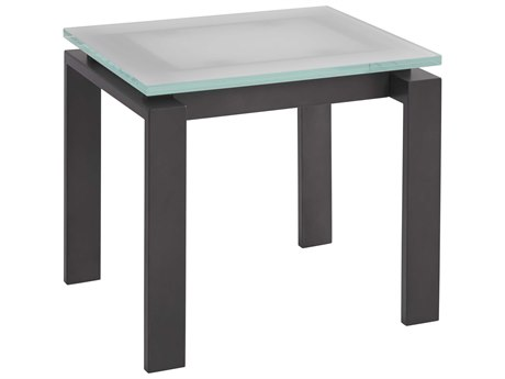 Universal Furniture Spaces Vance Frosted Glass 24'' x 24'' End Table with Frosted Glass Top