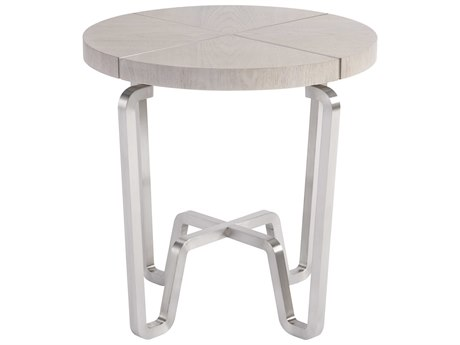 Universal Furniture Spaces Chatham Mist 24'' x 24'' End Table with Walnut Top