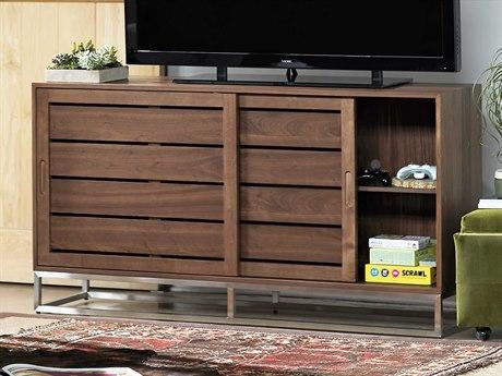 Universal Furniture Spaces Logan Walnut 64'' x 16'' Media Cabinet UF871968