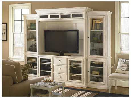 Universal Furniture Summer Hill 113''L x 23''W Cotton Entertainment Wall Unit UF987968HE