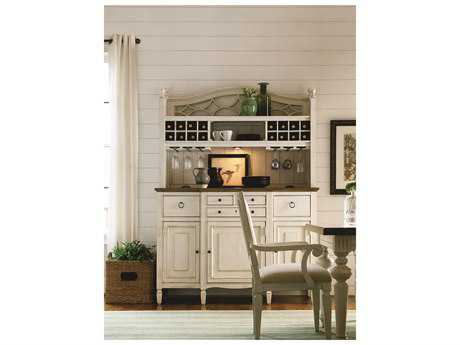 Universal Furniture Summer Hill 61''L x 21''W Cotton Buffet with Bar Hutch UF987670C