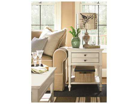 Universal Furniture Summer Hill 23''L x 26''W Rectangular Cotton End Table