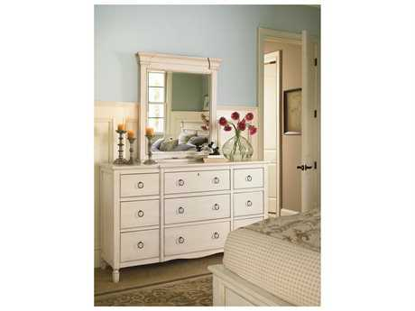 Universal Furniture Summer Hill Cotton Triple Dresser & Mirror Set
