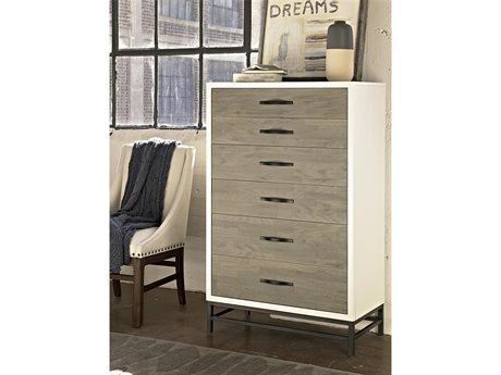 Universal Furniture Spencer 34''L x 18''W Gray & Parchment Chest of Drawers UF219150