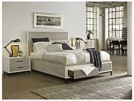 Universal Furniture The Spencer Bedroom Gray & Parchment Panel Bed Set