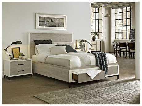 Universal Furniture The Spencer Bedroom Gray & Parchment Panel Bed Set UF219210SBSET