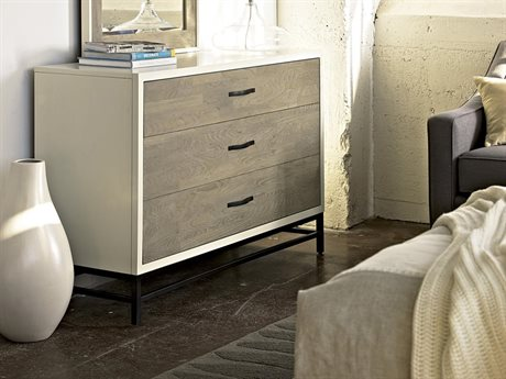 Universal Furniture Spencer Gray & Parchment Dresser