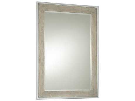 Universal Furniture The Spencer Bedroom 32''W x 45''H Rectangular Gray & Parchment Wall Mirror UF21904M
