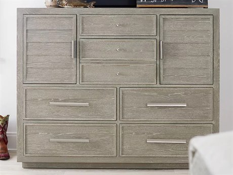 Universal Furniture Zephyr Solana / Polished Stainless Steel 7 Drawers Double Dresser