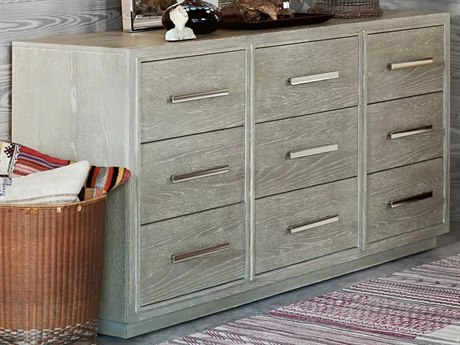 Universal Furniture Zephyr Solana / Polished Stainless Steel 8 Drawers and up Triple Dresser