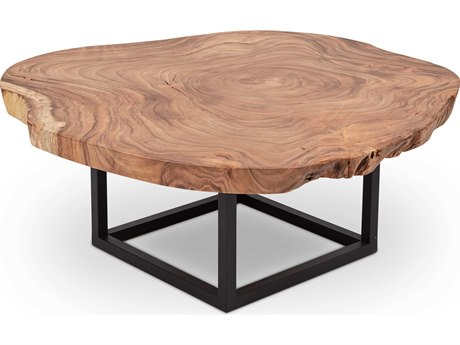 Urbia Akara Natural Chamcha / Black 40-50'' Wide Coffee Table URBTNSPTB3215