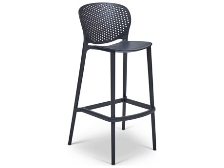 Urbia Bailey Black Grey Side Bar Height Stool (Sold in 4) URBCDHBLYBSBKG