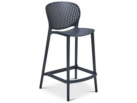 Urbia Bailey Black Grey Side Counter Height Stool (Sold in 4) URBCDHBLYCSBKG