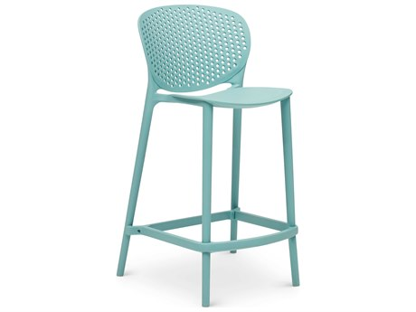 Urbia Bailey Surfin Blue Side Counter Height Stool (Sold in 4) URBCDHBLYCSSFN