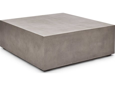 Urbia Bloc Dark Grey 47'' Wide Square Coffee Table URBVGSBLOC48SQ