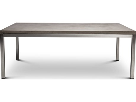 Urbia Chicago Dark Grey / Brushed Stainless Steel 82'' Wide Rectangular Dining Table URBVGSCHICAGODT
