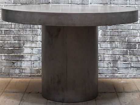 Urbia Circa Dark Grey 47'' Wide Round Dining Table URBVGSCIRCADT4