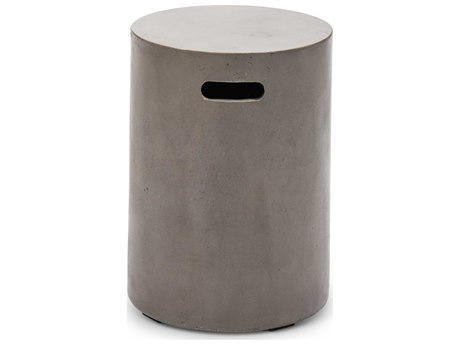Urbia Cylinder Dark Grey Accent Stool