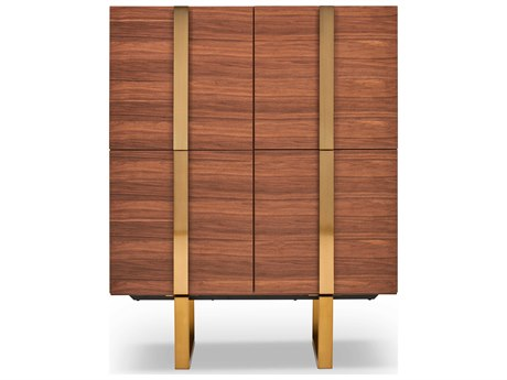 Urbia Drake Walnut / Brass Accent Chest