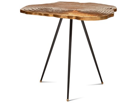 Urbia Easton Brass / Black 27'' Wide End Table