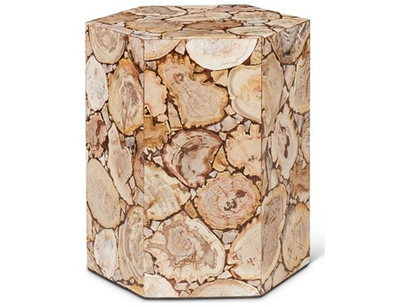 Urbia Hexagon Natural Light Accent Stool