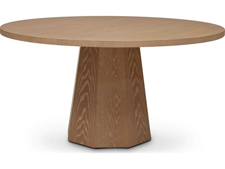 Urbia Kaia Putty Grey 60'' Wide Round Dining Table