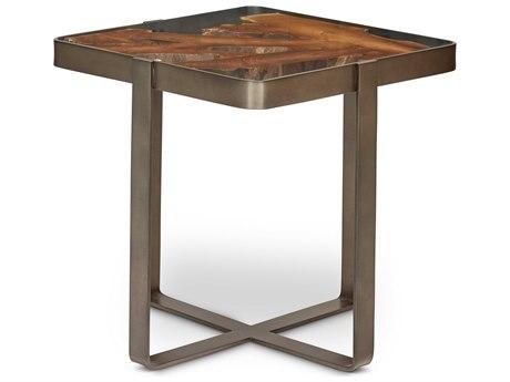 Urbia Kullen Teak / Galvanized Grey 22'' Wide Square End Table