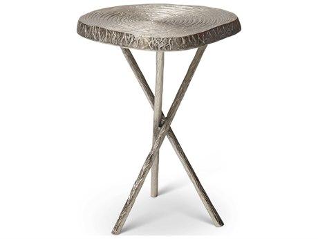 Urbia Ojas Raw Nickel 15'' Wide End Table URBIJOJASETRN
