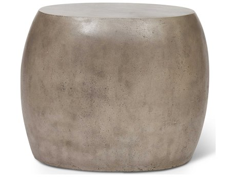 Urbia Pebble Dark Grey 24'' Wide Oval Drum Table