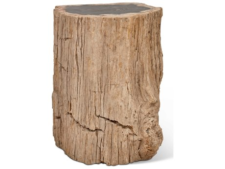 Urbia Stump Natural Dark Accent Stool URBIPJSTUMPTPDK