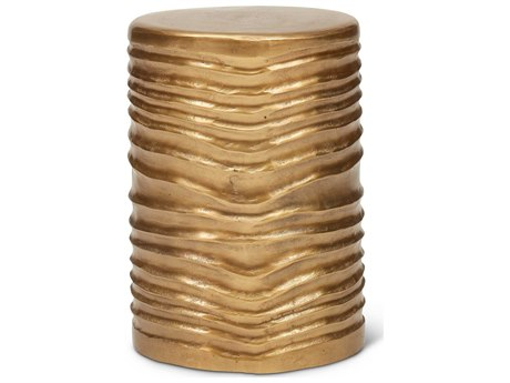 Urbia Tara Antique Brass Accent Stool URBIJTARASTLAB